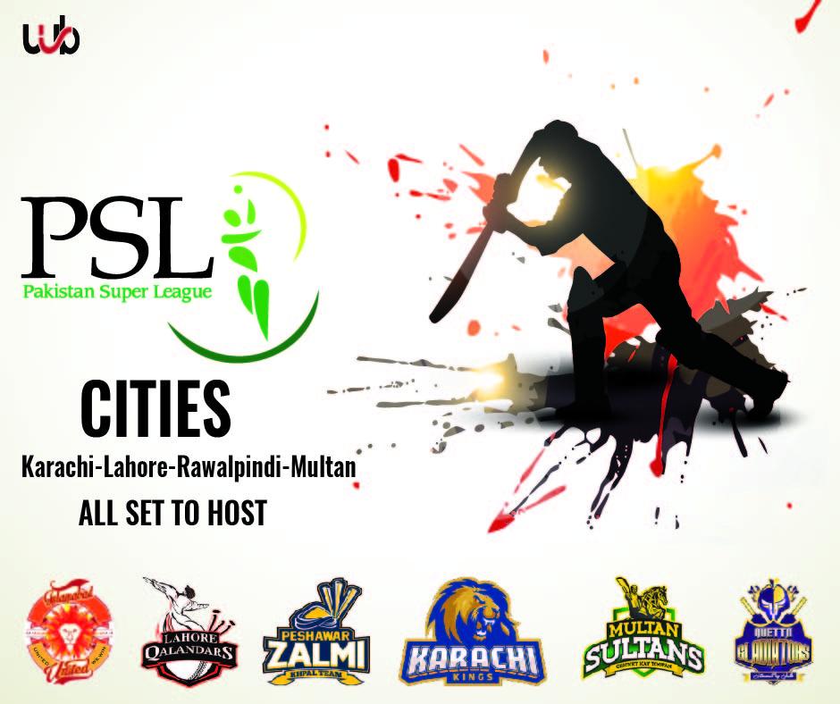 Pakistan To Host HBL PSL Season 5 In Four Major Cities